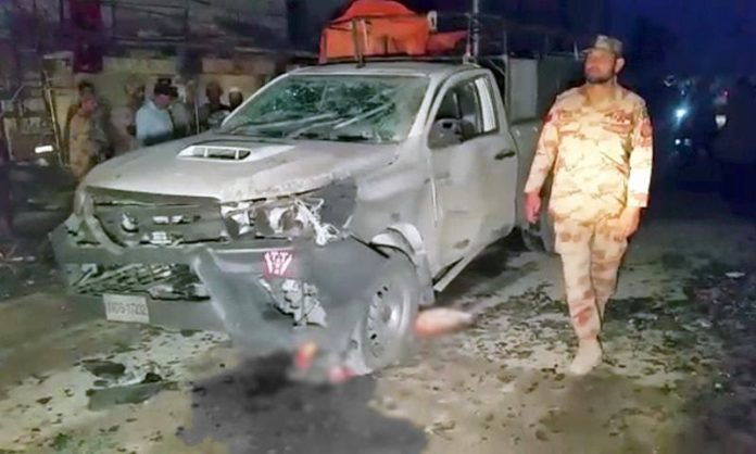 Two civilians killed, 10 injured in Chaman blast targeting FC vehicle: police