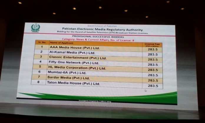 Pemra auctions 70 licences of satellite TV stations